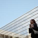 Businesswoman on cellphone