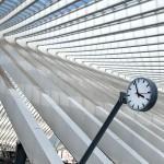 Clock in train station, Liege, Belgium