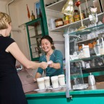 Female barista helping a female customer