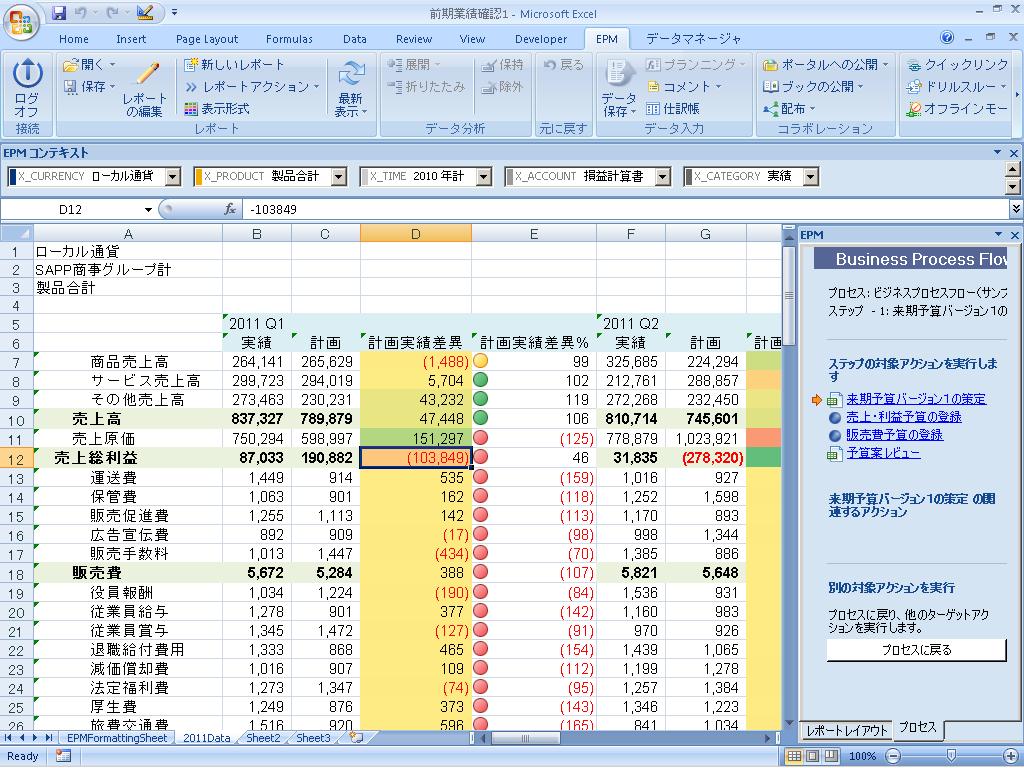 使い慣れたexcelインターフェースで 予算管理業務の効率化 高度化を