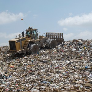 Landfill Compactor in a Landfill