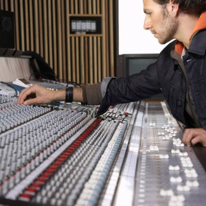 Technician in Recording Studio