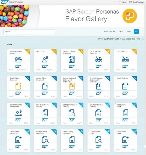 SAP Screen Personas Flavor Gallery