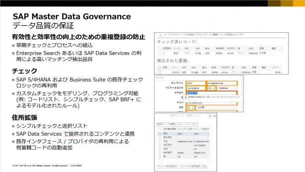 SAP MDGのデータ品質保証