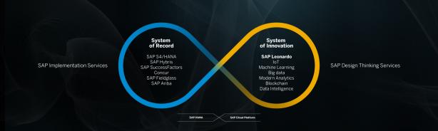 SAPの事業戦略におけるSAP Leonardoの位置づけ(出典:SAP)