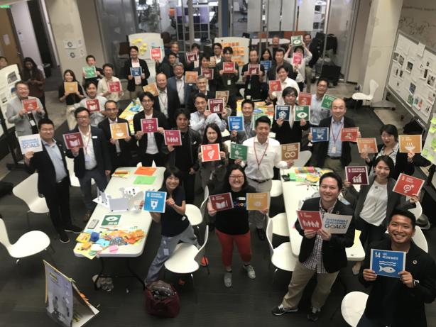 35名の参加者が所属を超えてSDGsの達成の方策を議論したSAP Japan Executive SDGs Ideathon (出典:SAPジャパン)