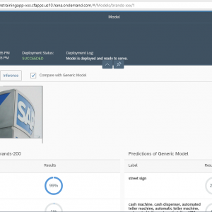 SAP Leonardo Machine Learning FoundationとSAPUI5 で作成したアプリケーション