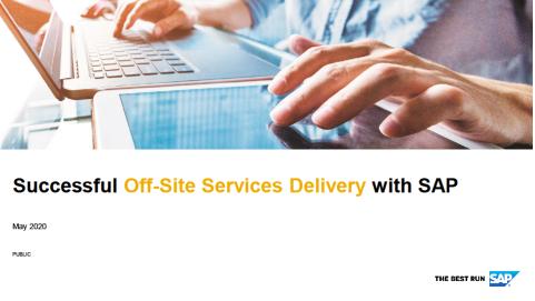 Off-site Service Delivery Framework