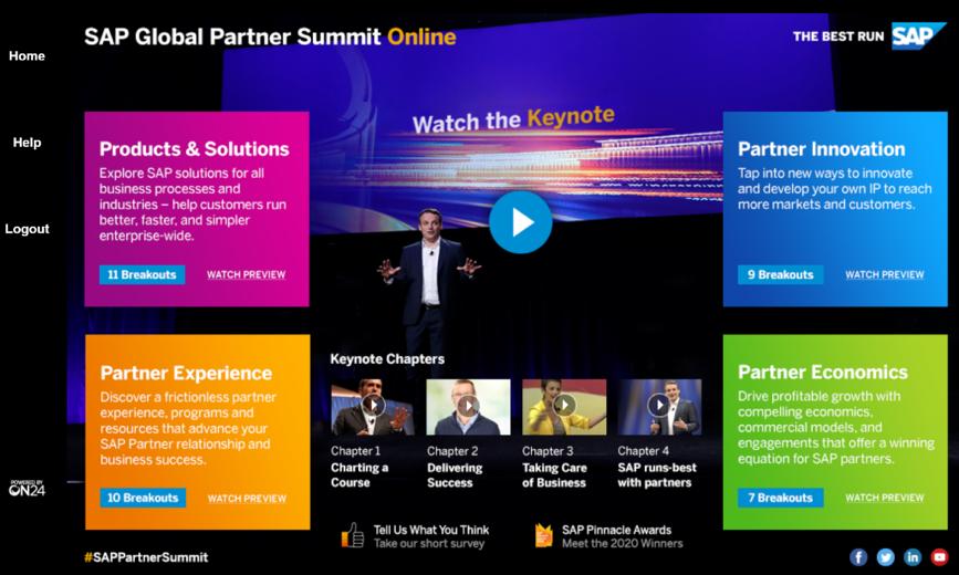 Global Parner Summitの画面イメージ