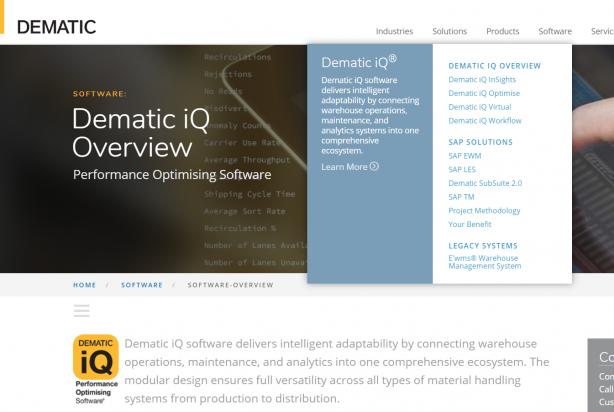 Dematicの商材にSAPの物流ソリューション導入サービスがある