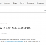 what's new ase 16.0 SP04