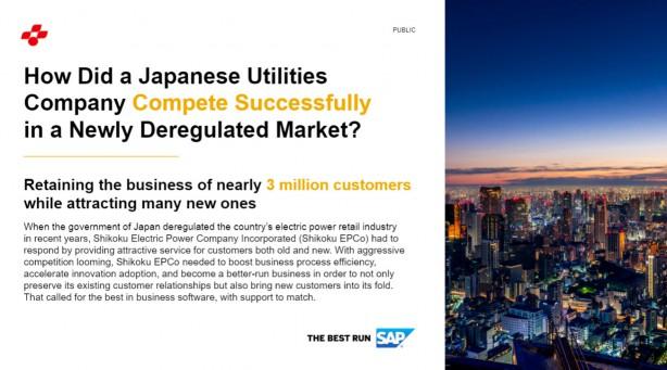 日本の電力会社が、新たに規制緩和された市場で成功を収めた方法とは
