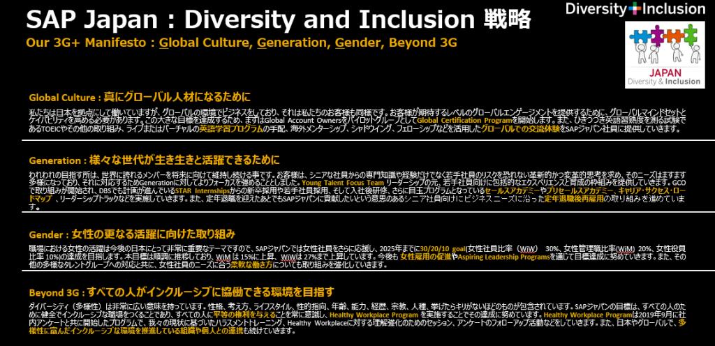 SAP ジャパン独自の「D&Iマニフェスト」
